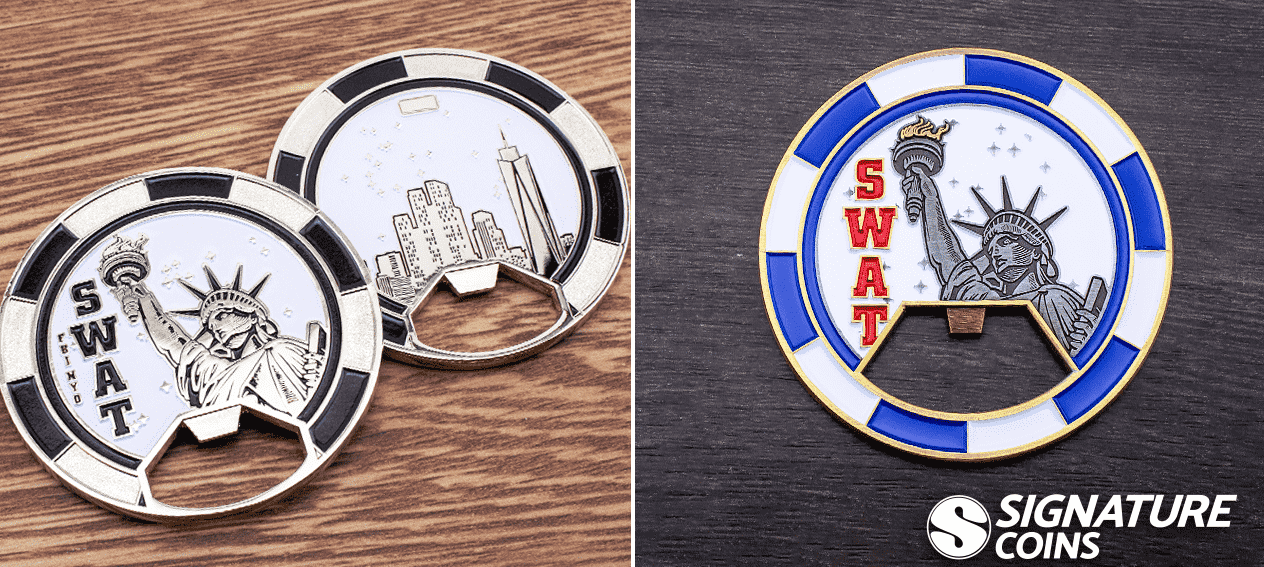 SWAT Challenge Coin bottle openers