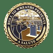 Rolls to Wreaths Challenge Coin