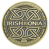 Irish on Ionia Event challenge coin front