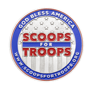 Scoops for Troops Charity Challenge Coin front