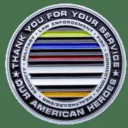 Bricks Across American Challenge Coin back