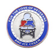 Scoops for Troops Charity Challenge Coin back