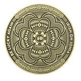 Irish on Ionia Event challenge coin back
