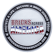 Bricks Across American Challenge Coin front