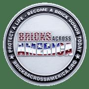Bricks Across American Challenge Coin front