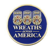 Wreaths Across America Challenge Coin Front