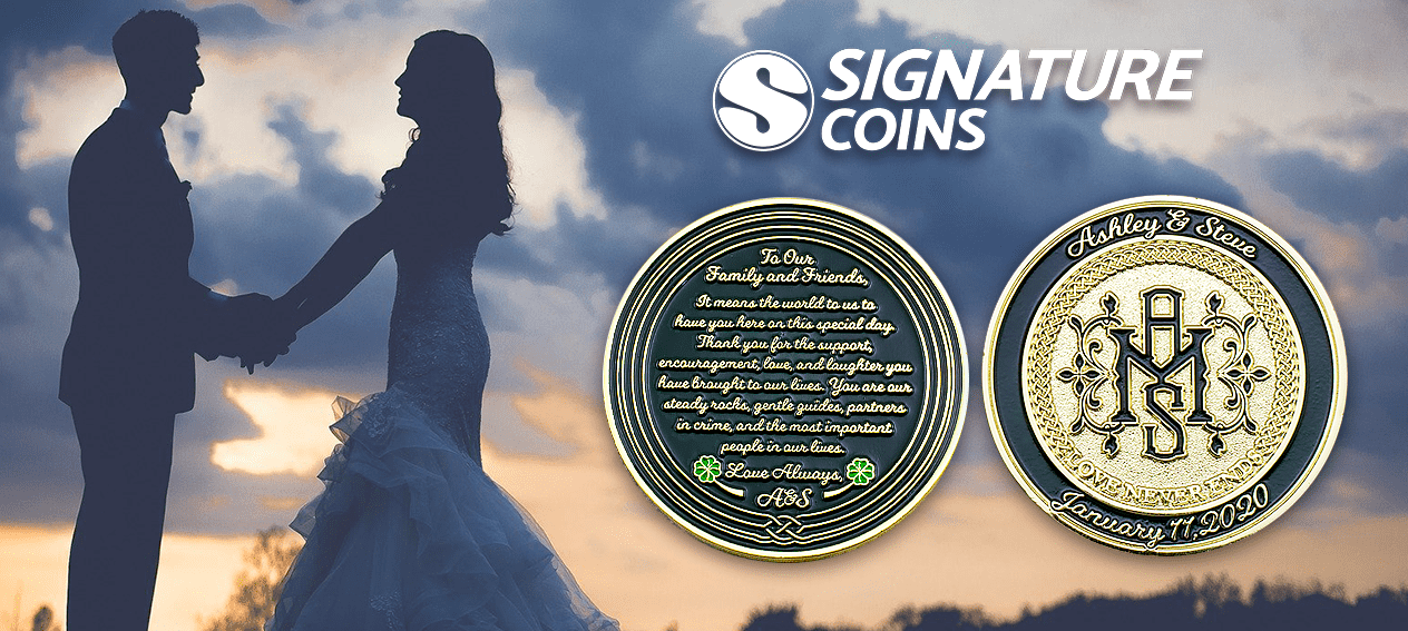 Asheley and Steve Wedding Challenge Coins