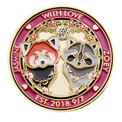 Jasmine-and Zoey Wedding Coin - front