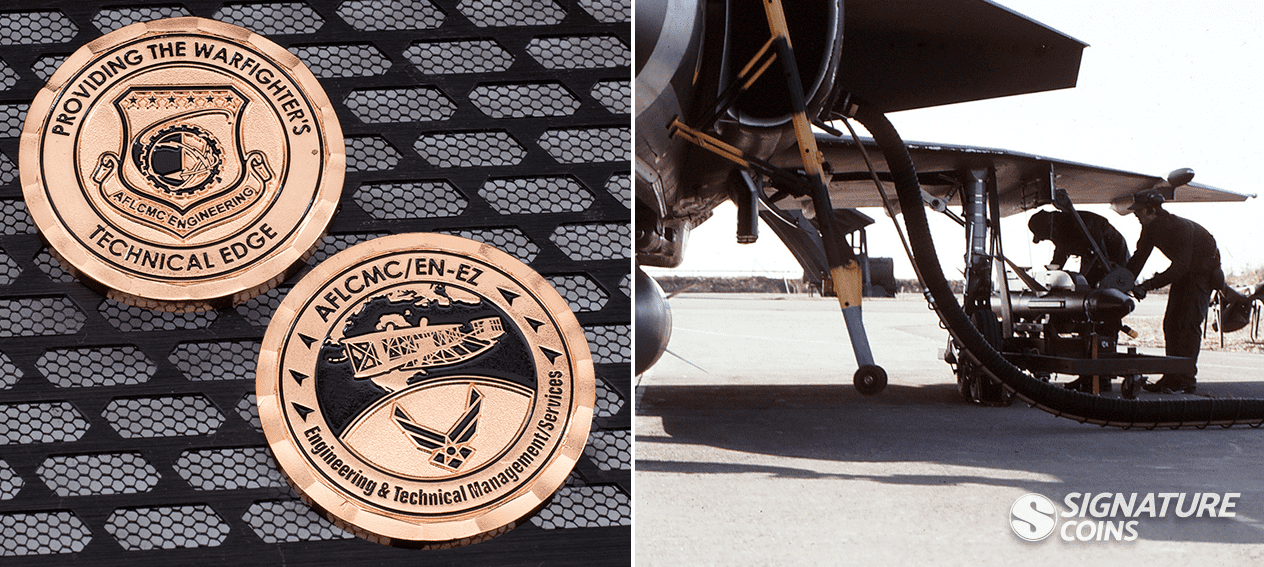 Engineering and Technical Management Services Airforce Coin