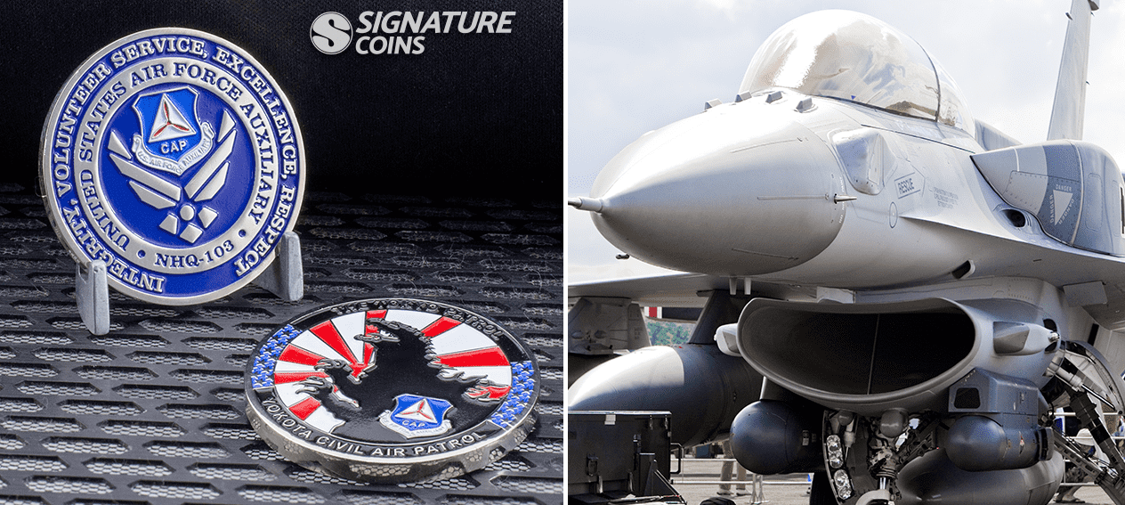 US Airforce Auxiliary Challenge Coin