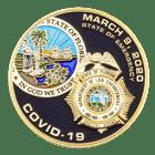 Florida Law Enforcement Covid Coin Front - Black Matte