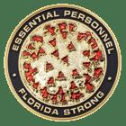Florida Law Enforcement Covid Coin Back - Black Matte