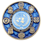 United Nations Government Challenge Coin front