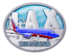 Los Angeles Intl Airport - Siemens - Translucent - AS - Rope Coin Back