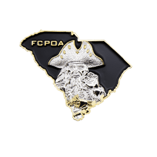 FCPOA Navy challenge coin 3D front