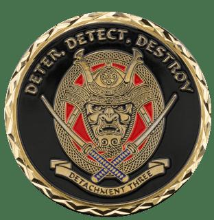 Detachment Three Samurai Challenge Coin
