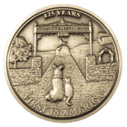 Hartsdale Pet Cemetary Rememberance Challenge Coin front