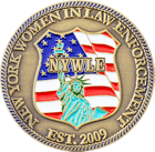 New York Women in Law Enforcement Challenge Coin Front