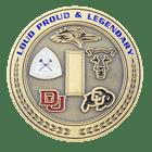 Afrotc Detachment 105 Airforce Coin - 3D back
