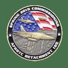 Afrotc Detachment 105 Airforce Coin - 3D front