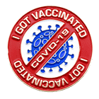 I got vaccinated - lapel pin