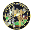 New York New York hotel and casino challenge coin front