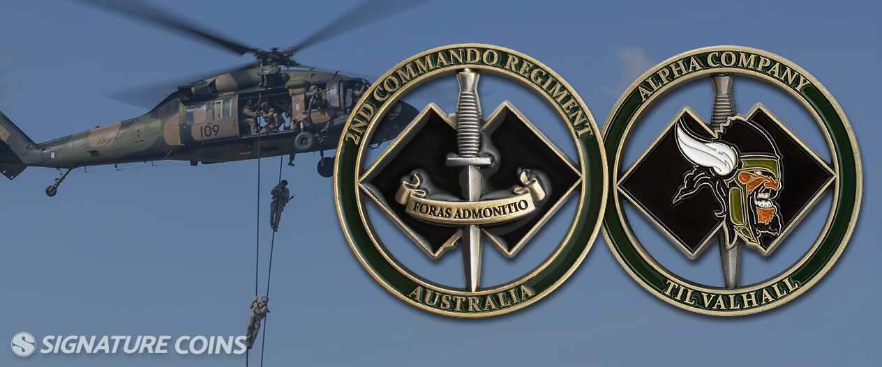 signature-coins-2nd Commando Regiment of the Aussie Army