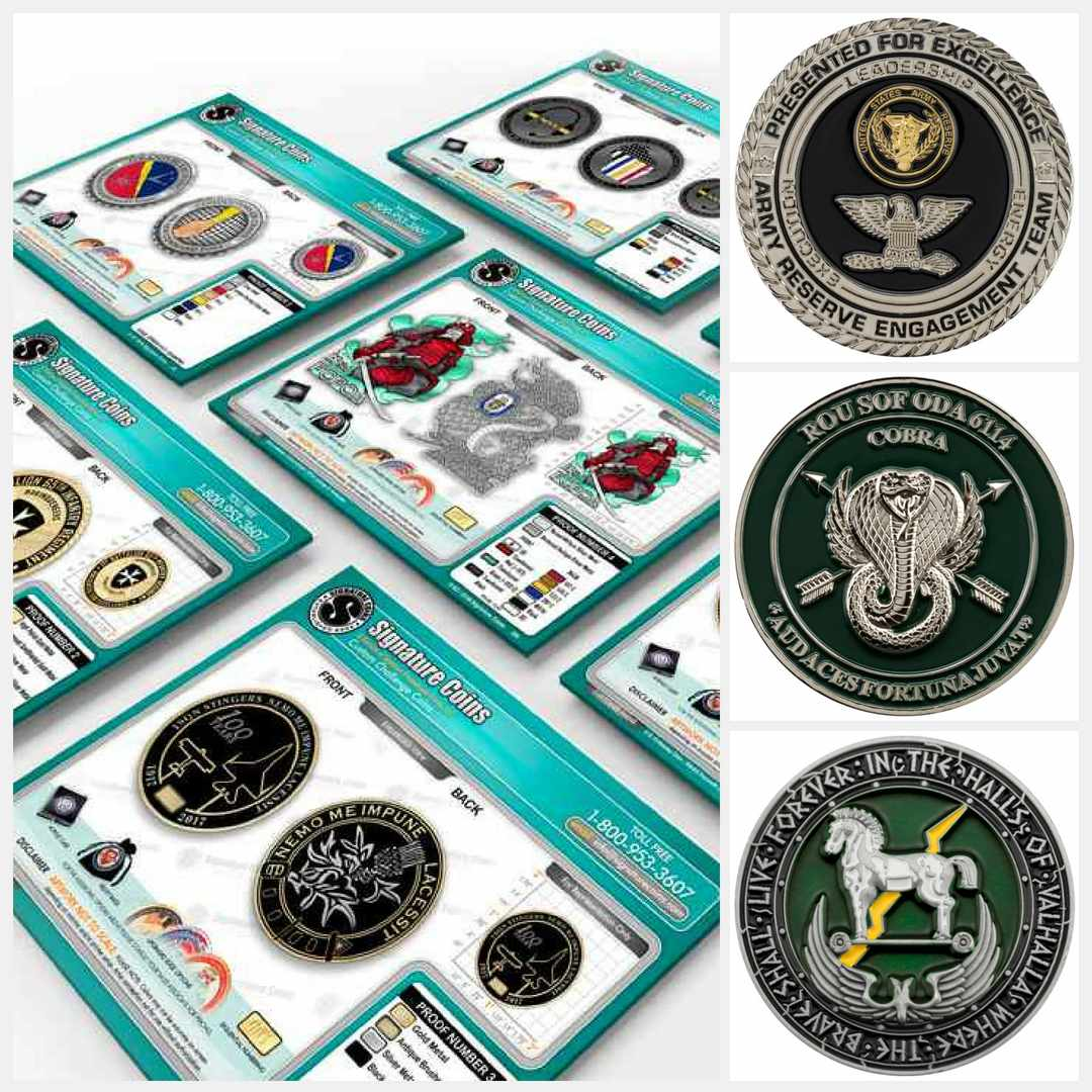 army-coin-collage