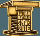 Public Speaking Die Struck Pin