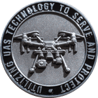UAS Technology Challenge Coin with 3D Drone