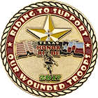 Riding for the Wounded Challenge Coin