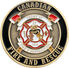 3D Canadian Firefighter Coin