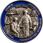 3D California Firefighter Challenge Coin