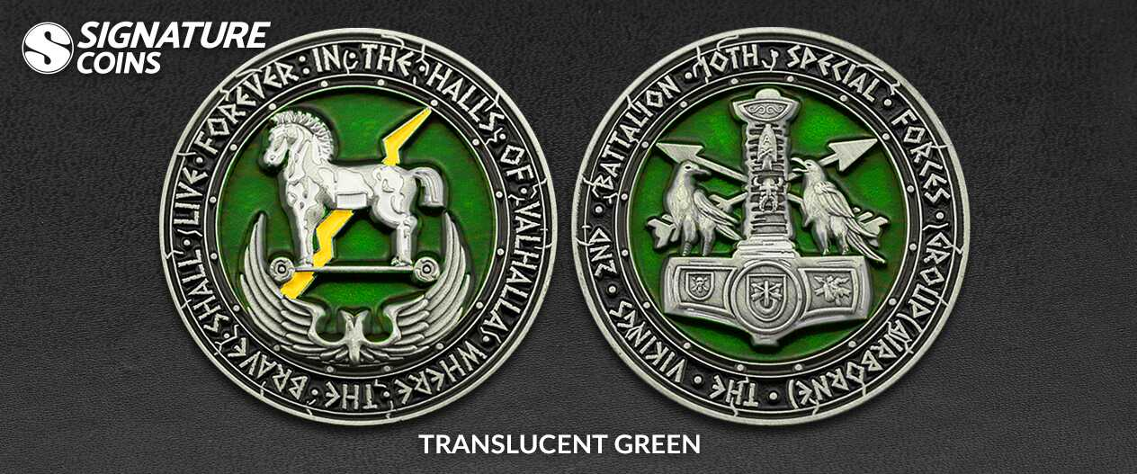 SignatureCoins-Army-2nd Battalion-10th Special Forces-Translucent-Challengecoin
