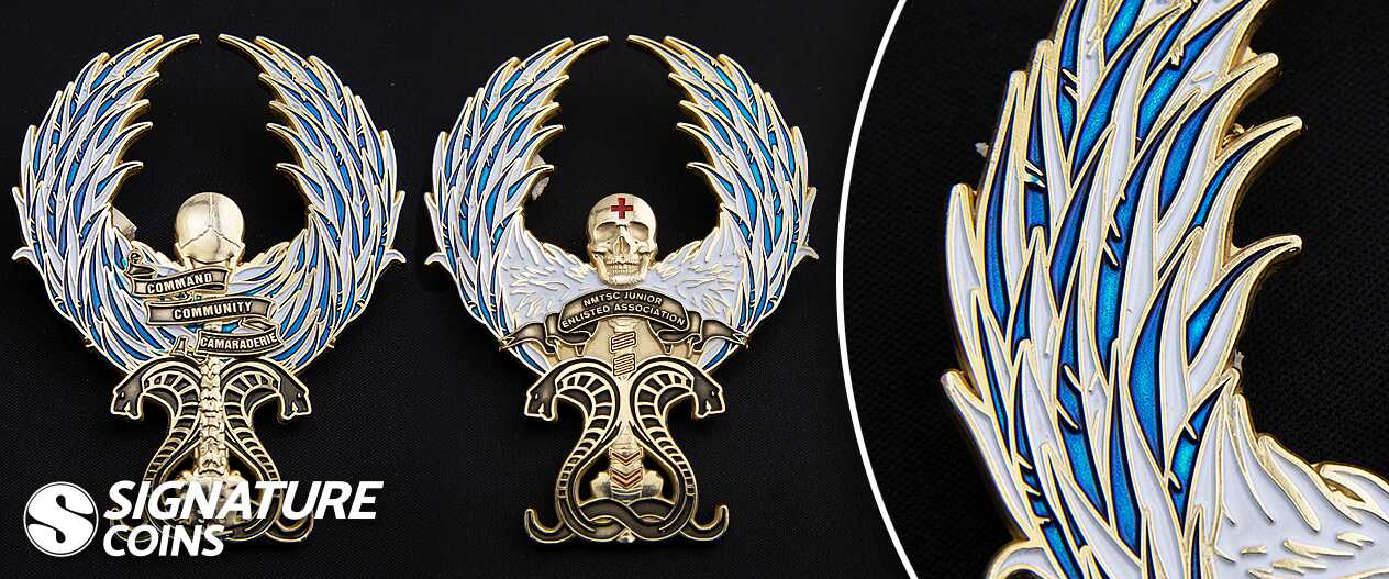 SignatureCoins-NMTSC Eagle Wings-Translucent-Challengecoin