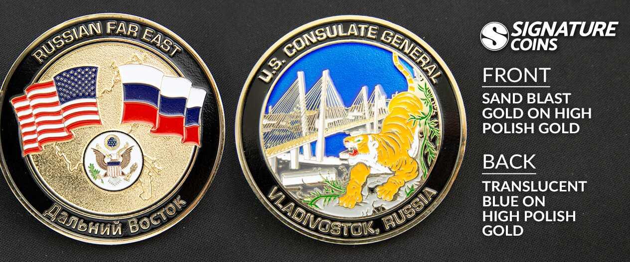 SignatureCoins-U.S. Consulate Generals Tiger-Translucent-Challengecoin