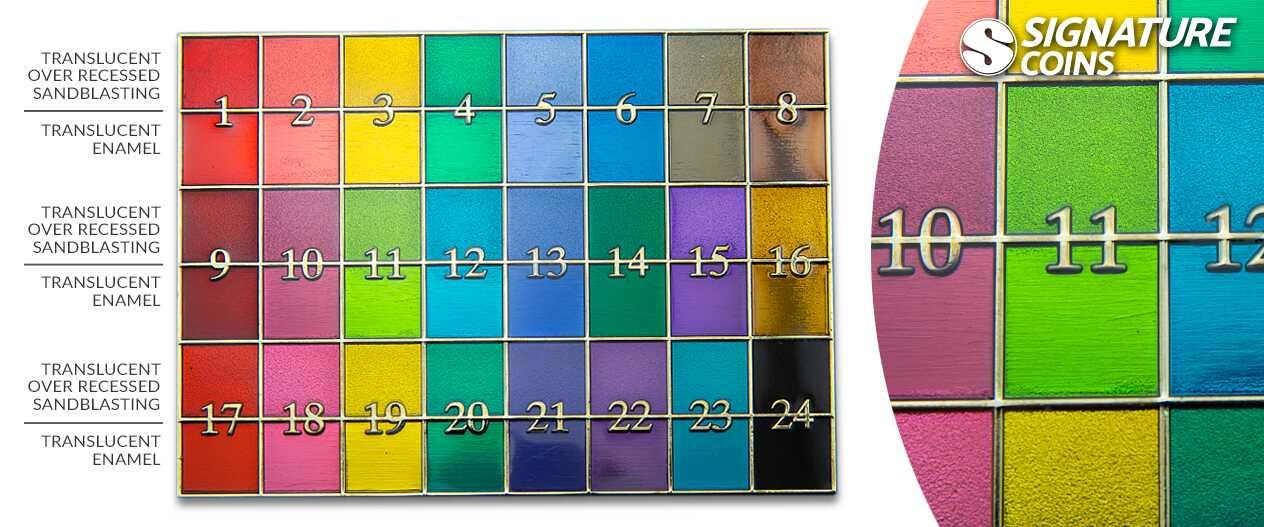 SignatureCoins-Translucent Colorfill-Plate