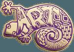 Art Lizard Cloisonne Pin