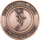Elizabeth and James Wedding Coins
