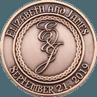 Elizabeth and James Wedding Coins