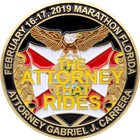 LDR Motorcycle Rally Challenge Coin back