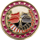 Jasmine and Zoey Wedding Coin - back