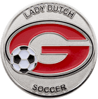 Lady Dutch Soccer Coin