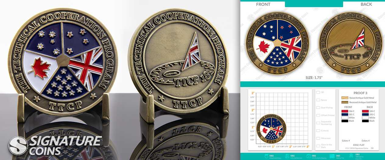 signaturecoins-Canadian Armed Forces-TTCP-challengecoin