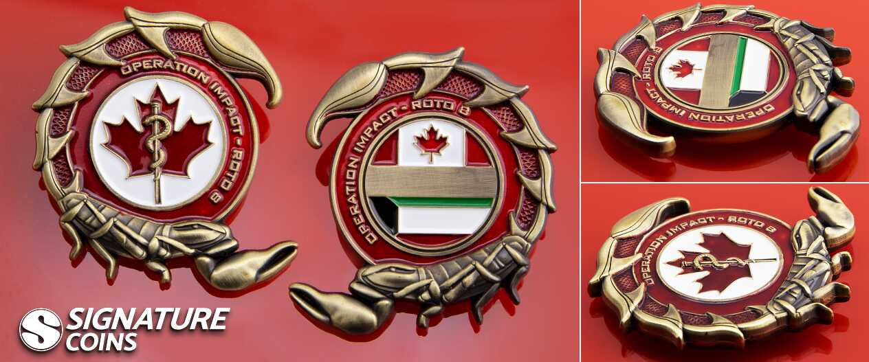 SignatureCoins-IMPACT in Kuwait-Canadian-Challengecoin