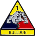 Bulldog 1st Armored Division Military Pin