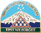 Tahoma National Cemetery Military Pin