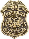 Die Struck War Department Pin