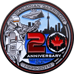 Canadian Garrison 20th Anniversary Challenge Coin