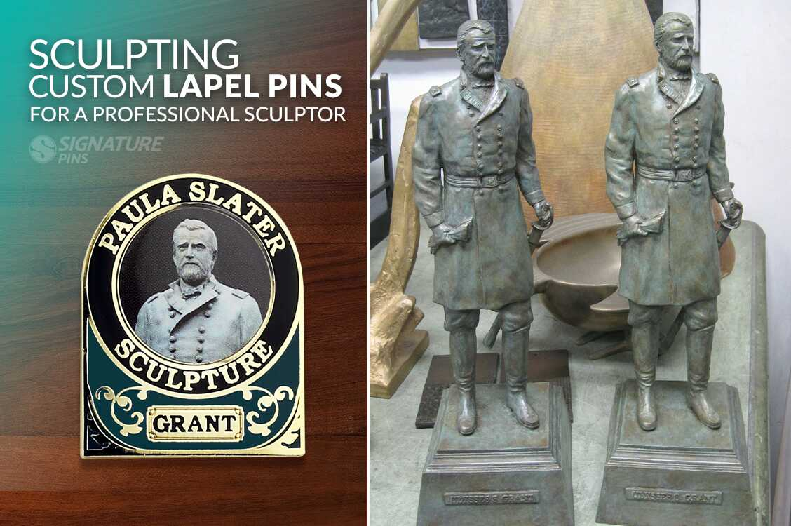 Sculpting Lapel pins from a professional sculptor
